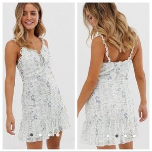 NEW ASOS Parisian Tiered Floral Mini Dress